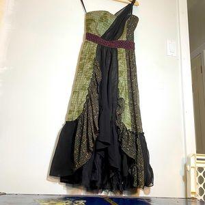 FREE PEOPLE Boho Patchwork Midi Dress